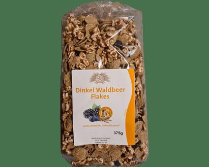 Dinkel Waldbeer Flakes 100% Dinkel im Getreideanteil 375g - Sierndorfer Walzmühle