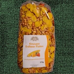 Knusper Erdbeer Flakes mit 4% gefriergetrockneten Erdbeeren 375g - Sierndorfer Walzmühle