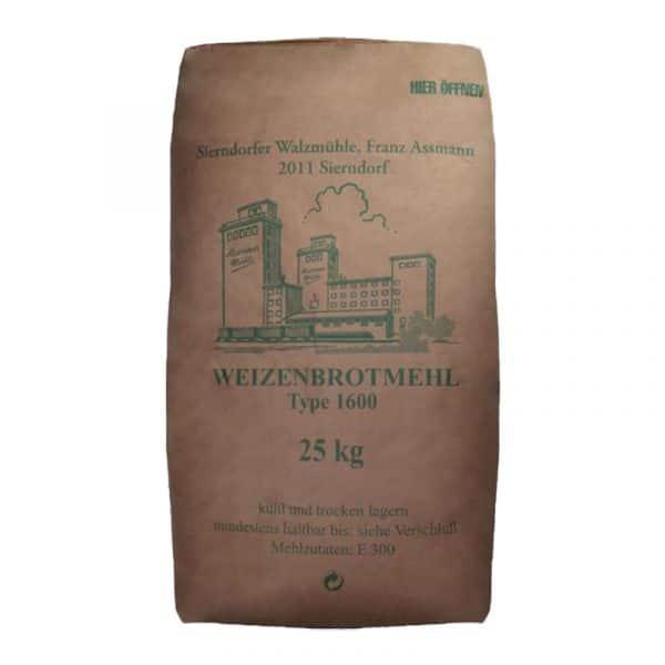 Weizenbrotmehl - W 1600 25kg - Assmann Perle